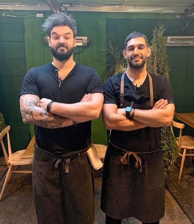 Chefs Greg Proechel and Victor Amarilla