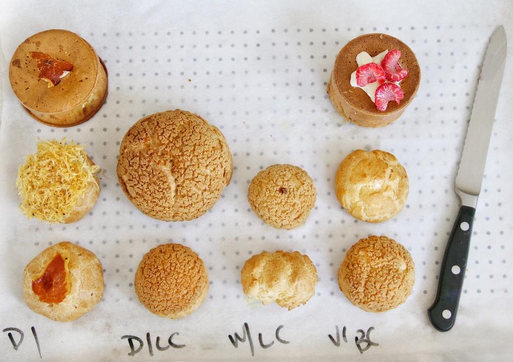 Various choux pastries