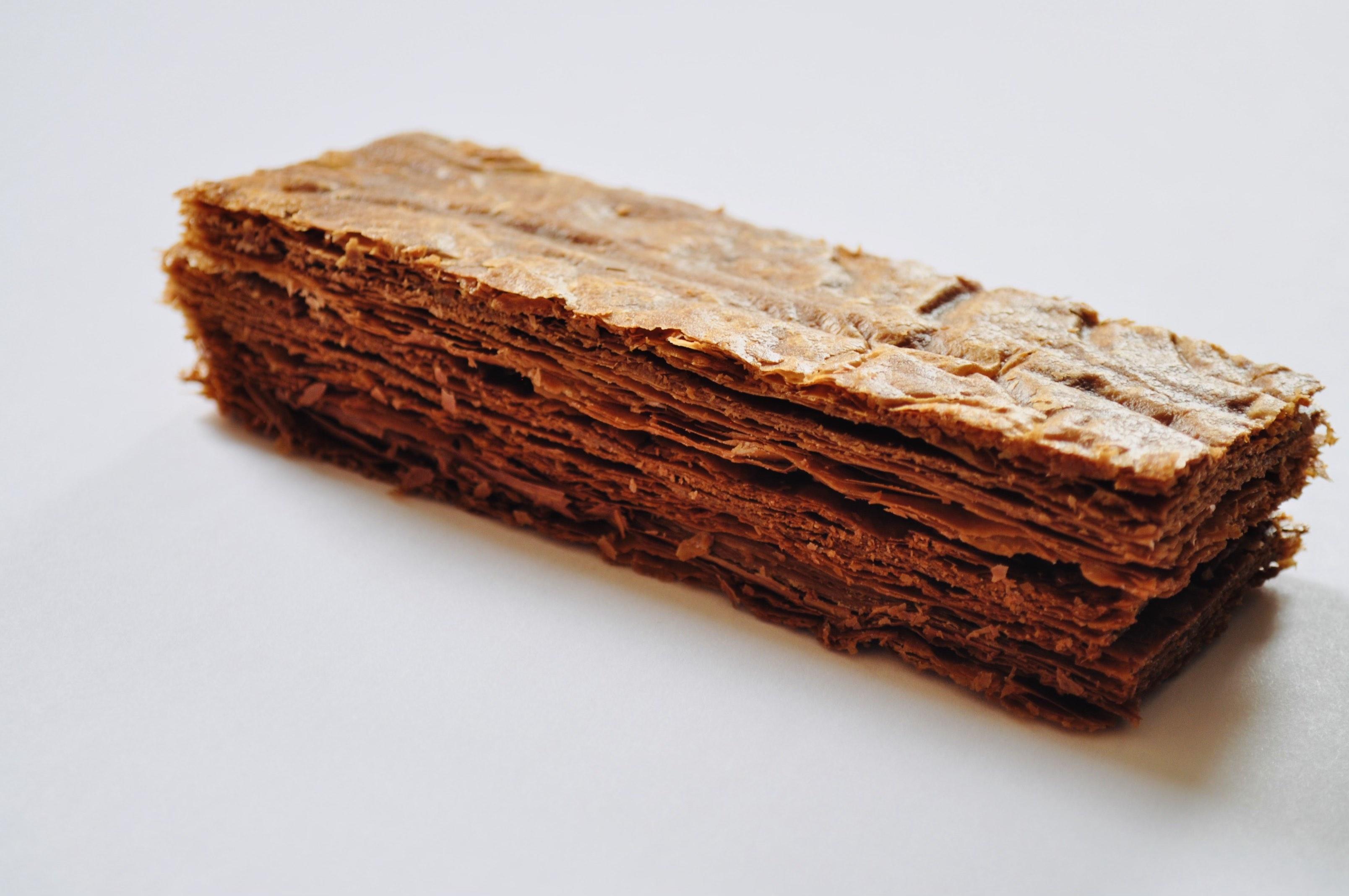 puff pastry with True Dark cocoa powder